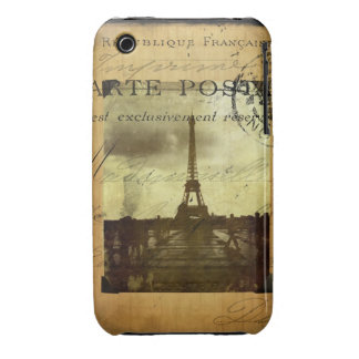 Postmarked Paris Case-Mate iPhone 3 Cases