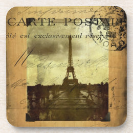 Postmarked Paris Coaster