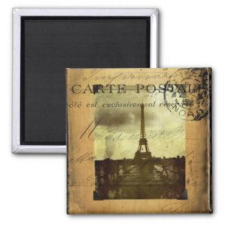 Postmarked Paris Fridge Magnet