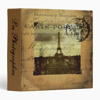 "Postmarked Paris Les Photographies 1.5"" PhotoAlbum 3 Ring Binder"