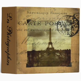 "Postmarked Paris Les Photographies 2"" Photo Album 3 Ring Binders"