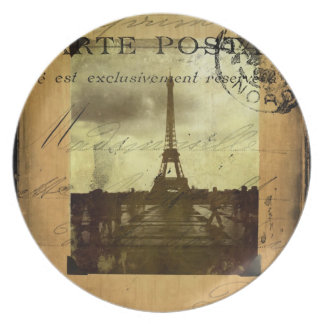 Postmarked Paris Plate