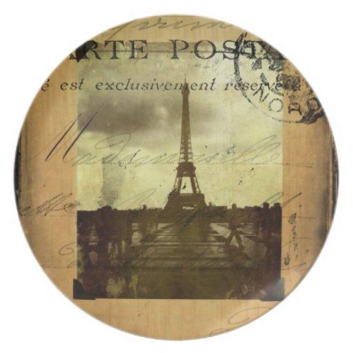 Postmarked Paris Plate