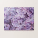 Postmarked Textured Lilacs Jigsaw Puzzle