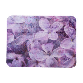 Postmarked Textured Lilacs Magnet