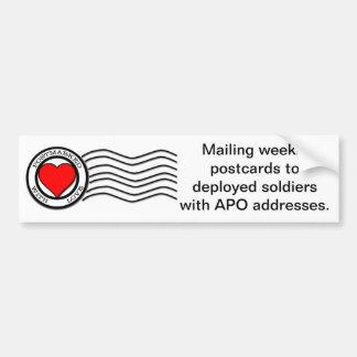 Postmarked With Love Bumper Sticker Car Bumper Sticker