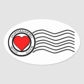 Postmarked With Love Sticker