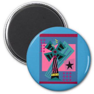 Postmodern Palm Bird Magnet