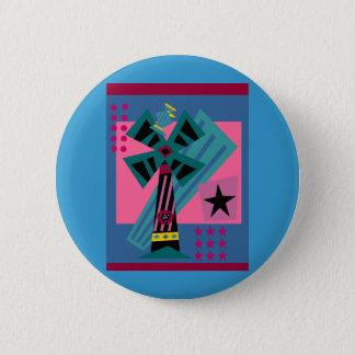 Postmodern Palm Bird Pinback Button