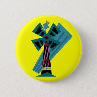 Postmodern Palm Bird Sans Background Button