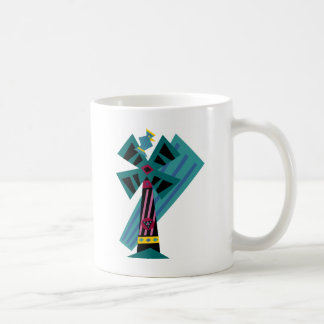 Postmodern Palm Bird Sans Background Coffee Mug