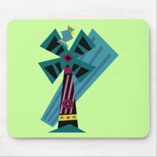 Postmodern Palm Bird Sans Background Mouse Pad