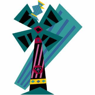Postmodern Palm Bird Sans Background Standing Photo Sculpture