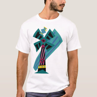 Postmodern Palm Bird Sans Background T-Shirt