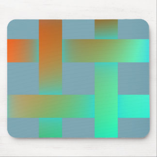 Postmodern pastel colors mouse pad