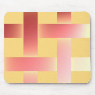 Postmodern pastel colors pink and salmon mouse pad