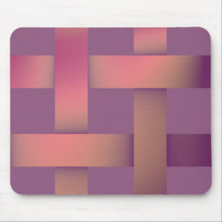 Postmodern pastel colors shades of mauve mouse pad