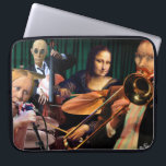 "Postmodern Quartet Computer Sleeve<br><div class=""desc"">Van Gogh,  Mona Lisa,  and the American Gothic couple get down.</div>"