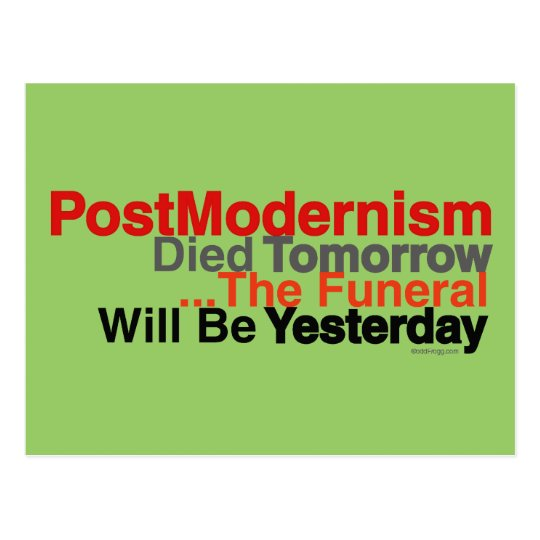 PostModernism 2.0 Custom Postcard