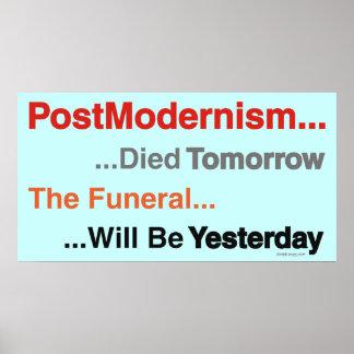PostModernism Died Tomorow Poster