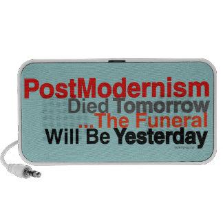 PostModernism Died Tomorrow Doodle Speaker (Blue)