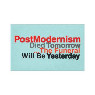 PostModernism Died Tomorrow Mod Canvas Print