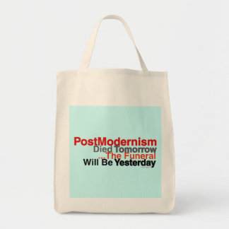 Postmodernism Grocery Tote Canvas Bags