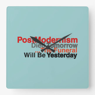 Postmodernism Modern Wall Clock (Square)