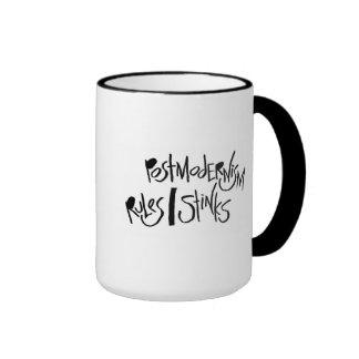 Postmodernism Rules/Stinks Ringer Coffee Mug
