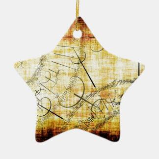 postmoderno adorno de cerámica en forma de estrella