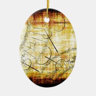 postmoderno adorno ovalado de cerámica