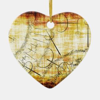 postmoderno adorno de cerámica en forma de corazón