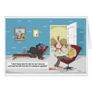 Postnatal Chicken - Father's Day Greeting Card