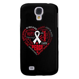 Postpartum Depression Awareness Heart Words Galaxy S4 Cases