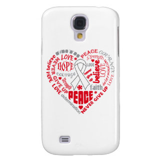 Postpartum Depression Awareness Heart Words Samsung Galaxy S4 Covers
