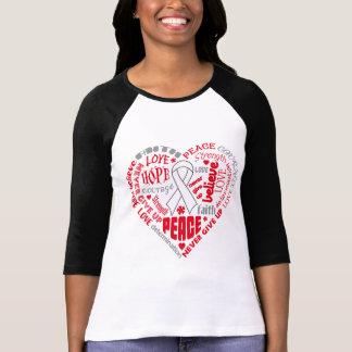 Postpartum Depression Awareness Heart Words Shirt