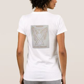 Postpartum Depression Awareness Ribbon Angel Shirt