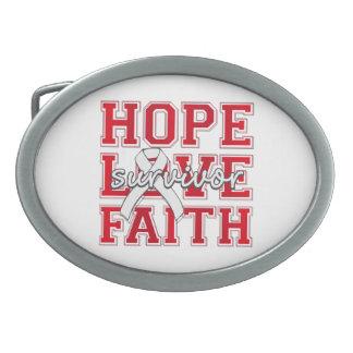 Postpartum Depression Hope Love Faith Survivor Oval Belt Buckles