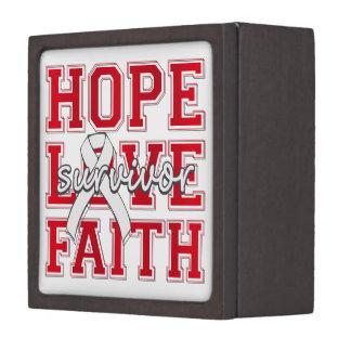 Postpartum Depression Hope Love Faith Survivor Premium Keepsake Boxes