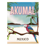 Postr del viaje de la playa de Akumal México Tarjetas Postales