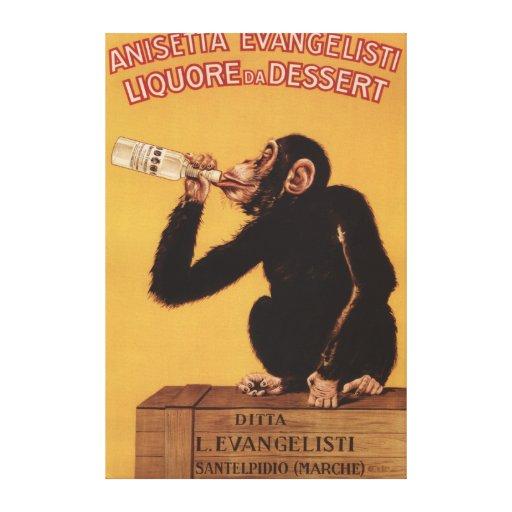 Postre de Anisetta Evangelisti Liquore DA Lona Estirada Galerías