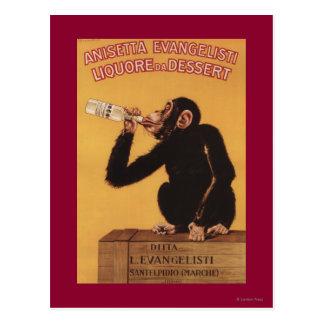 Postre de Anisetta Evangelisti Liquore DA Postales