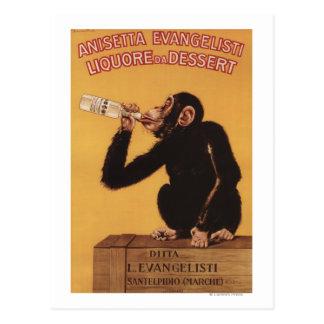 Postre de Anisetta Evangelisti Liquore DA Tarjeta Postal