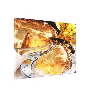 Postre de la empanada de Apple Impresion De Lienzo