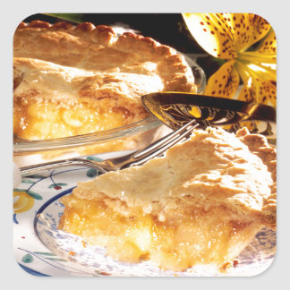 Postre de la empanada de Apple Pegatina Cuadrada