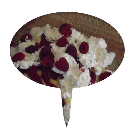 Postre de la frambuesa figura de tarta