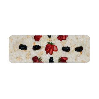 Postre de la tapioca etiquetas de remite