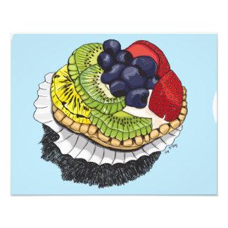 Postre de la tarta de la fruta impresiones fotograficas