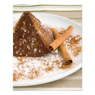 Postre de la torta de chocolate del canela fotografias
