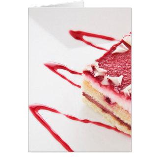 Postre de la torta de la frambuesa tarjeta de felicitación